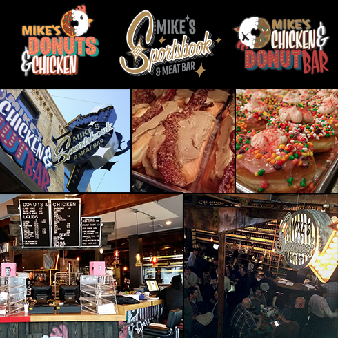 Mingadigm | Mike's Donuts & Chicken / Chicken & Donut Bar / Sportbook & Meat Bar